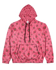 Red Poppies Daisies Women's All Over Print Hoodie thumbnail