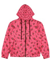 Red Poppies Daisies Women's All Over Print Full Zip Hoodie thumbnail