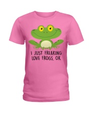 Frogs Ladies T-Shirt front