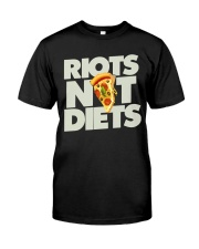 Riots not Diets feminist funny  Classic T-Shirt thumbnail