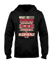 T SHIRT HELICOPTER PILOT Hooded Sweatshirt thumbnail