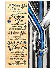 Blue I Choose You Poster  11x17 Poster front