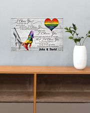 Custom LGBT Hand in hand Personalized name 17x11 Poster poster-landscape-17x11-lifestyle-24
