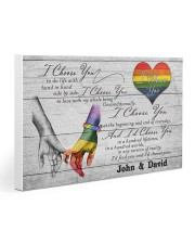 Custom LGBT Hand in hand Personalized name Gallery Wrapped Canvas Prints tile