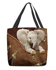 Elephant Like Leather All-over Tote front