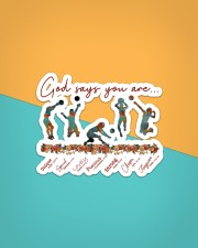 God Says You Are Volleyball   Sticker - Single (Horizontal) aos-sticker-single-horizontal-lifestyle-front-02