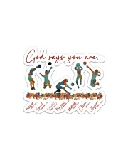 God Says You Are Volleyball   Sticker - Single (Horizontal) front