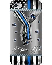 Police Officer Blue flag hand in hand I choose you Phone Case i-phone-8-case