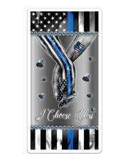 Police Officer Blue flag hand in hand I choose you Sticker tile