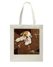 English Bulldog Like Leather  Tote Bag tile