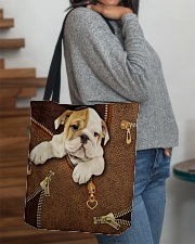 English Bulldog Like Leather  All-over Tote aos-all-over-tote-lifestyle-front-09