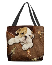 English Bulldog Like Leather  All-over Tote front