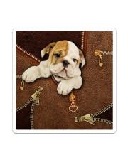 English Bulldog Like Leather  Sticker tile