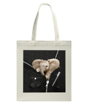 Elephant Black  Tote Bag tile