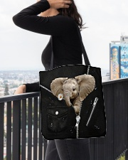 Elephant Black  All-over Tote aos-all-over-tote-lifestyle-front-05
