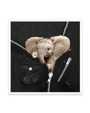 Elephant Black  Sticker tile