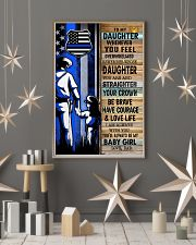 Police Officer Gift for Daughter my baby girl 11x17 Poster lifestyle-holiday-poster-1