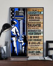 Police Officer Gift for Daughter my baby girl 11x17 Poster lifestyle-poster-2