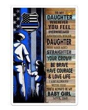 Police Officer Gift for Daughter my baby girl Sticker tile