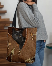 Black Cat Like Leather All-over Tote aos-all-over-tote-lifestyle-front-09