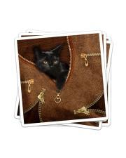 Black Cat Like Leather Sticker tile