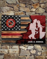 Custom Firefighter Couple Flag Personalized name 17x11 Poster aos-poster-landscape-17x11-lifestyle-16