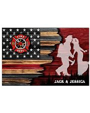 Custom Firefighter Couple Flag Personalized name 17x11 Poster front