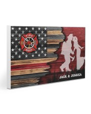 Custom Firefighter Couple Flag Personalized name Gallery Wrapped Canvas Prints tile