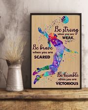 Volleyball Be Strong  11x17 Poster lifestyle-poster-3