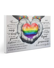 LGBT Love is patient Love is kind Love Never Fails Gallery Wrapped Canvas Prints tile