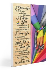 LGBT I Choose You Gallery Wrapped Canvas Prints tile