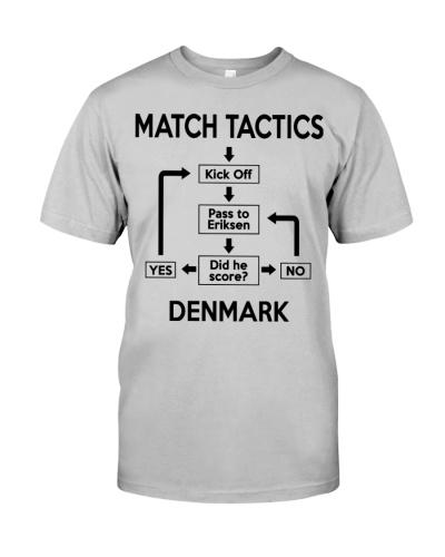 Denmark Football Match Tactics Shirt