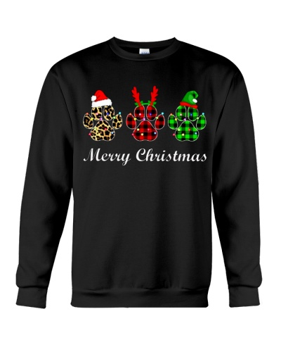 DOG PAW XMAS CHRISTMAS SWEATSHIRT