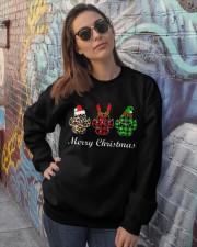 DOG PAW XMAS CHRISTMAS SWEATSHIRT Crewneck Sweatshirt lifestyle-unisex-sweatshirt-front-3
