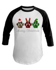 DOG PAW XMAS CHRISTMAS SWEATSHIRT Baseball Tee thumbnail