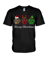DOG PAW XMAS CHRISTMAS SWEATSHIRT V-Neck T-Shirt thumbnail