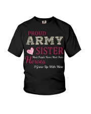 PROUD ARMY  SISTER Youth T-Shirt thumbnail