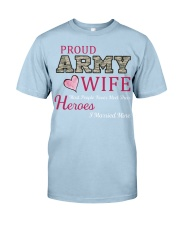 PROUD ARMY WIFE Classic T-Shirt front