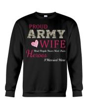 PROUD ARMY WIFE Crewneck Sweatshirt thumbnail