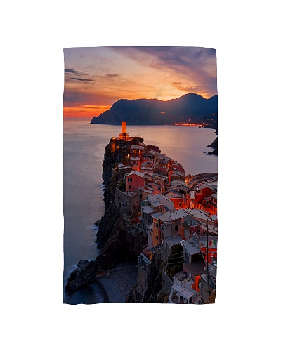 Beautiful Italy Glows At Sunset By The Coast