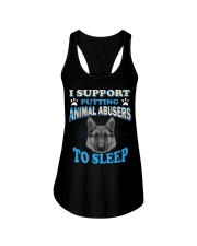 I support putting animal abusers to sleep here Ladies Flowy Tank thumbnail