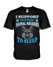 I support putting animal abusers to sleep here V-Neck T-Shirt thumbnail