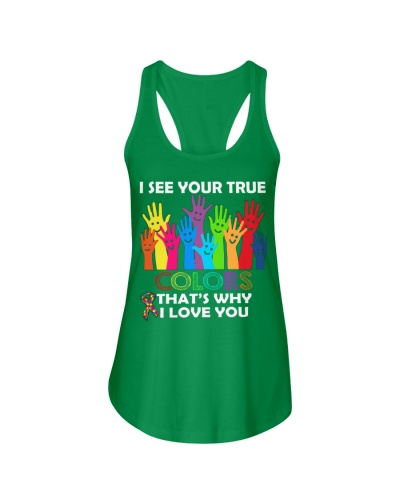 AUTISM Awareness Tshirt -True Color Perfect Gift L
