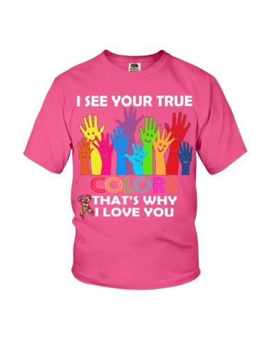 AUTISM Awareness Tshirt -True Color Perfect Gift L