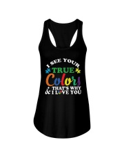 AUTISM Awareness Tshirt -True Color Perfect Gift   Ladies Flowy Tank thumbnail