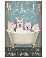 WEST HIGHLAND WHITE TERRIER ON BATH TUB 11x17 Poster front