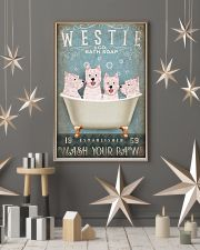 WEST HIGHLAND WHITE TERRIER ON BATH TUB 11x17 Poster lifestyle-holiday-poster-1