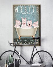 WEST HIGHLAND WHITE TERRIER ON BATH TUB 11x17 Poster lifestyle-poster-7