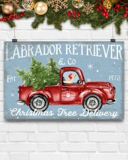 LABRADOR DOG RED TRUCK CHRISTMAS 17x11 Poster aos-poster-landscape-17x11-lifestyle-28