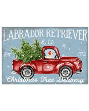 LABRADOR DOG RED TRUCK CHRISTMAS 17x11 Poster front